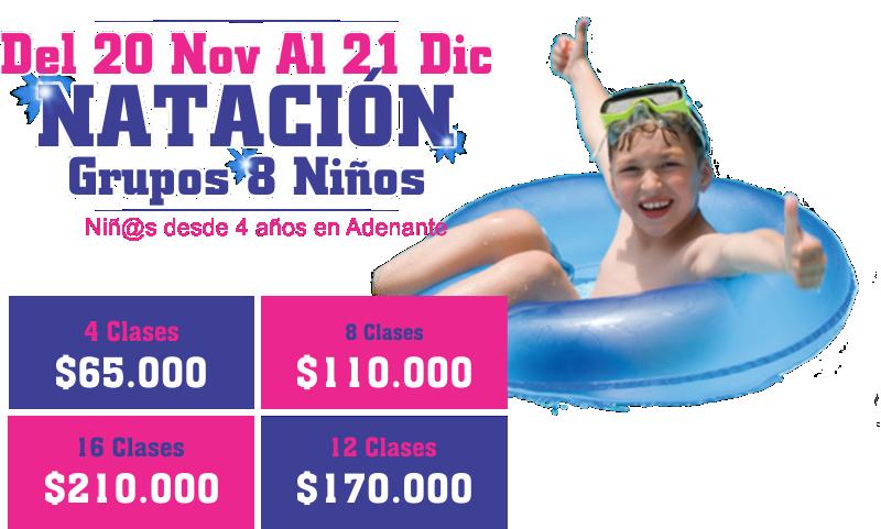 Cursos vacacionales 2018 de natacion para niños